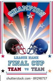 football game poster team vs team