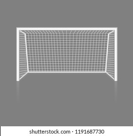 Football goal. Field. Ball game