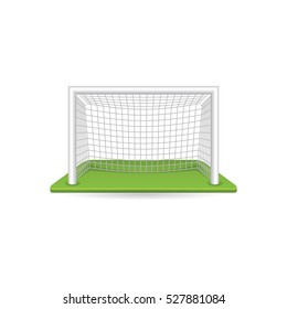 Football goal post icon in color. Sport ball soccer