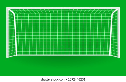 Football goal with shadow isolated on a transparent background