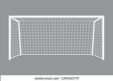 Football goal vector illustration isolated on grey background
