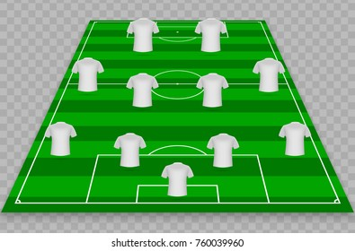 Football Graphic For Soccer Starting Lineup Squad
