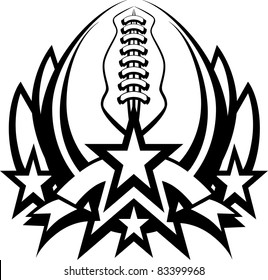 Football Graphic Template with stars