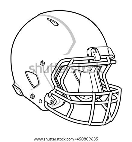 Football Helmet Stock Vector Royalty Free 450809635