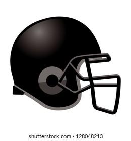 football helmet in black color