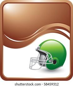 football helmet bronze wave backdrop