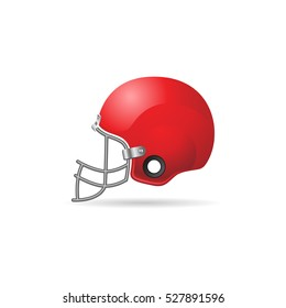 Football helmet icon in color. Sport American head protection