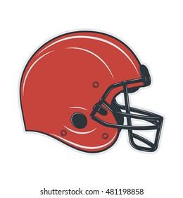 Football helmet on white background. Vector illustration.