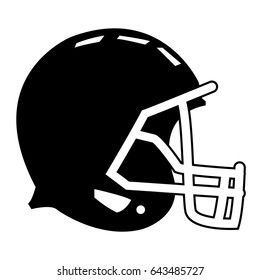football helmet protection equipment side view