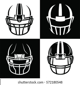 Football helmet sport icon set