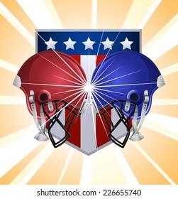 Football helmets clashing