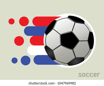 Football icon and abstract graphic design. Vector Illustration for soccer tournaments.
