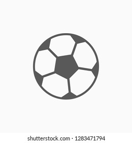 football icon, ball vector