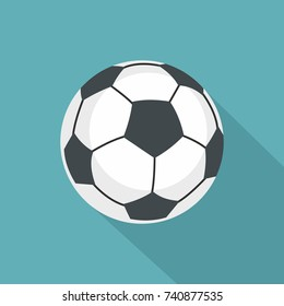 Football icon. Flat illustration of football vector icon for web