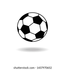 Football icon isolated on white background. Vector illustration.