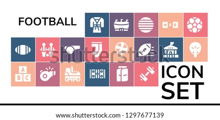football icon set 19