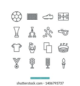 Football Icon Set Vector Illustration Logo Template