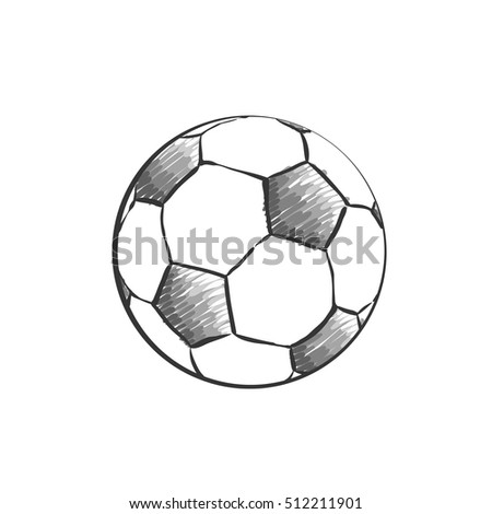 Football Icon Sketch Soccer Ball Drawing Stock Vector Royalty Free