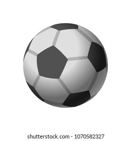 Football icon, soccerball, isolated on white backgriund, vector illustration.