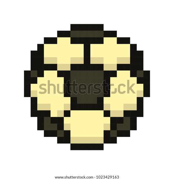 Image Vectorielle De Stock De Football Icon Soccerball Pixel