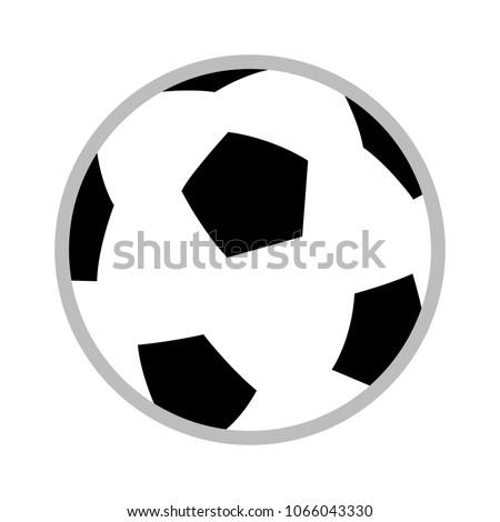 Football Icon Vector Soccer Ball Sport Stock Vector Royalty Free