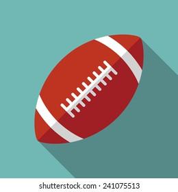 football icon witn long shadow. flat style vector illustration