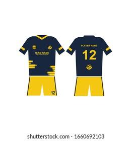 football jersey template design vector