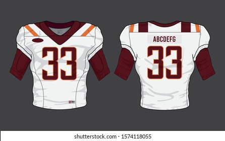 football jersey uniform template set kit