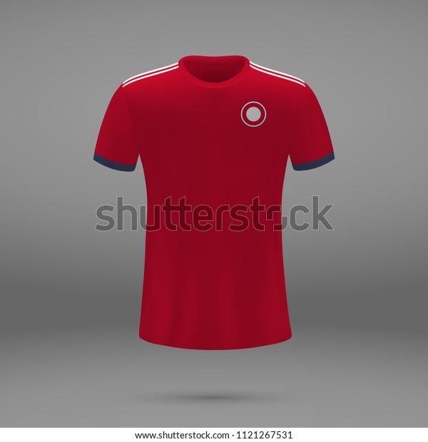 brand new 92460 31a67 Football Kit Bayern Munich 2018 Shirt Stock Vector (Royalty ...