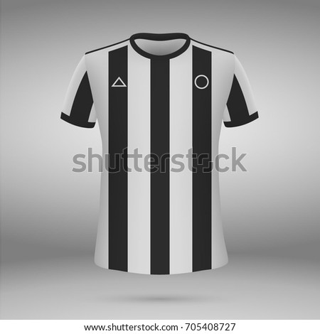 5244a02bc6 Football Kit Botafogo 20172018 Tshirt Soccer Stock Vector (Royalty ...