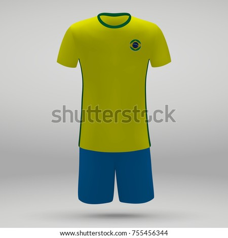 1fb2d714f Royalty-free stock vector images ID  755456344. football kit of Brazil with  flag