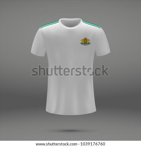 e83533a46 Football Kit Bulgaria Coat Arms Tshirt Stock Vector (Royalty Free ...