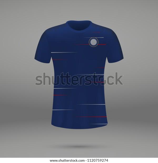 timeless design 272cd f2715 Football Kit Chelsea 2018 Shirt Template Stock Vector ...