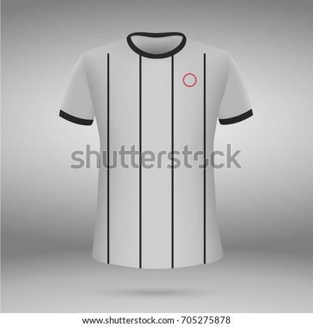 d468756f435 football kit of Corinthians 201-2018, t-shirt template. soccer jersey.  Vector illustration - Vector