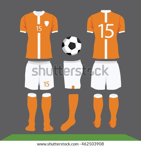 Football Kit Design Shirt Soccer Stock Vector Royalty Free