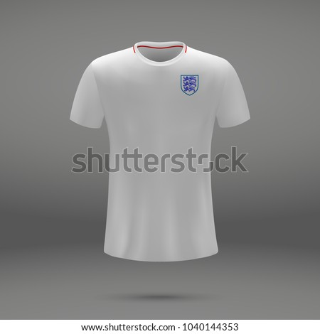 37a7cffee Royalty-free stock vector images ID  1040144353. football kit of England  2018