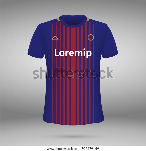 best website 27404 8639b Football Kit Fc Barcelona 20172018 Tshirt Stock Vector ...
