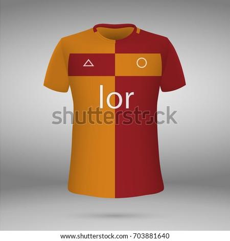 69e526ead Football Kit Galatasaray 20172018 Tshirt Template Stock Vector ...