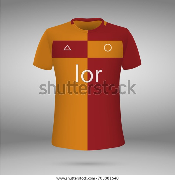 best service 569ac 38d8f Football Kit Galatasaray 20172018 Tshirt Template Stock ...