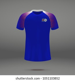 football kit of iceland 2018, shirt template for soccer jersey. Vector illustration