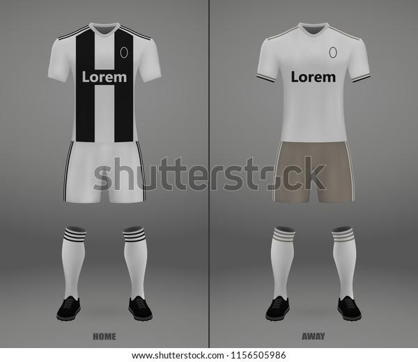 premium selection 4d1b1 8d710 Football Kit Juventus 201819 Shirt Template Stock Vector ...