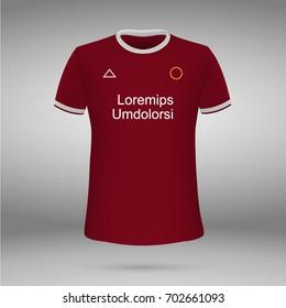 football kit of Liverpool FC 2017-2018, t-shirt template. soccer jersey. Vector illustration