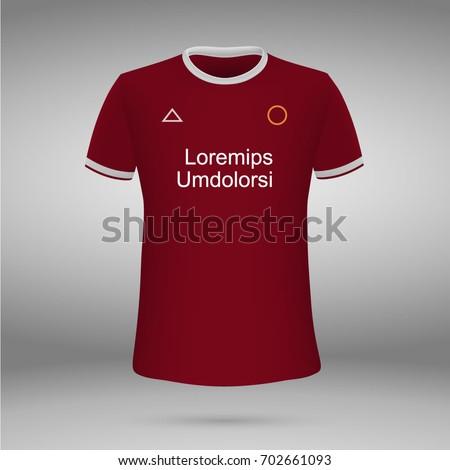 f6113773e4e Football Kit Liverpool FC 20172018 Tshirt Stock Vector (Royalty Free ...