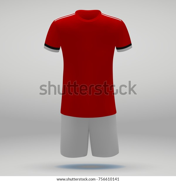 innovative design 80cf1 d3f87 Football Kit Manchester United Tshirt Template Stock Vector ...