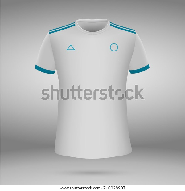 huge discount 5c86a ab903 Football Kit Olympique De Marseille 20172018 Stock Vector ...