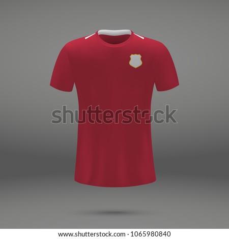 632070da9 Football Kit Panama Tshirt Template Soccer Stock Vector (Royalty ...