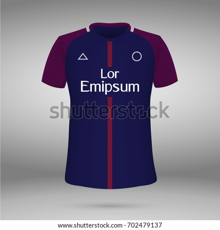 92a097d03 Royalty-free stock vector images ID  702479137. football kit of Paris  Saint-Germain 2017-2018
