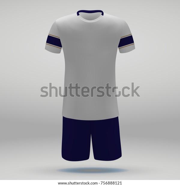 sports shoes 8b091 6fd7e Football Kit Pumas Unam Tshirt Template Stock Vector ...
