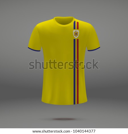 408322a32 Royalty-free stock vector images ID  1040144377. football kit of Romania  2018