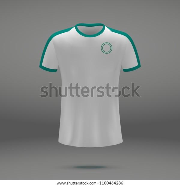 buy online 9433e 7cba2 Football Kit Senegal 2018 Shirt Template Stock Vector ...